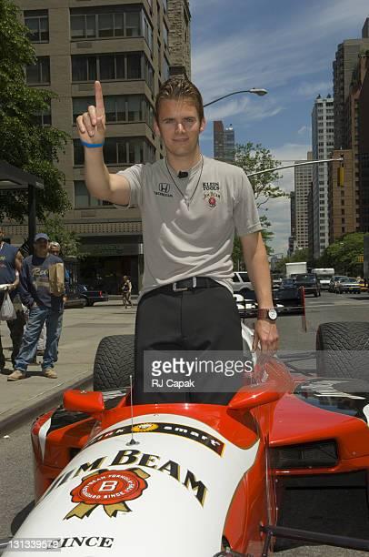 Dan Wheldon 2005 Indianapolis 500 Winner during 2005 Indianapolis 500 Winner Dan Wheldon Visits New York City May 31 2005 at Streets Of Manhattan in...