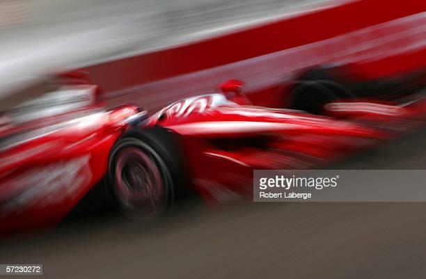 Dan Wheldon driver of the Target Chip Ganassi Racing Dallara Honda during practice for the IRL Indycar Series Honda Grand Prix of StPetersburg on...