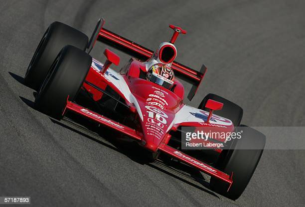 Dan Wheldon driver of the Target Chip Ganassi Racing Honda Dallara on his way to winning the IRL Indycar Series Toyota Indy 300 on March 26 2006 at...