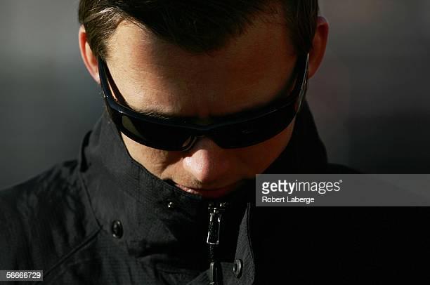 Dan Wheldon driver of the Target Chip Ganassi Racing Honda Dallara before testing for the IRL Indycar Series on January 25 2006 at the Phoenix...
