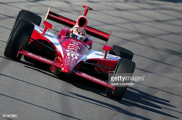 Dan Wheldon driver of the Target Ganassi Racing Dallara Honda during the IRL Indycar Series Toyota Indy 300 on March 26 2006 at the HomesteadMiami...