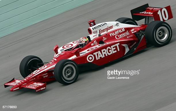 Dan Wheldon drives the Target Ganassi Racing Dallara Honda during practice for the IRL Indycar Series Toyota Indy 300 on March 24 2006 at the...