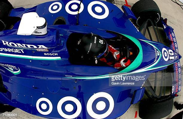 Dan Wheldon drives the Target Ganassi Racing Dallara Honda during practice for the IRL IndyCar Series SunTrust Indy challenge on June 23 2006 at...