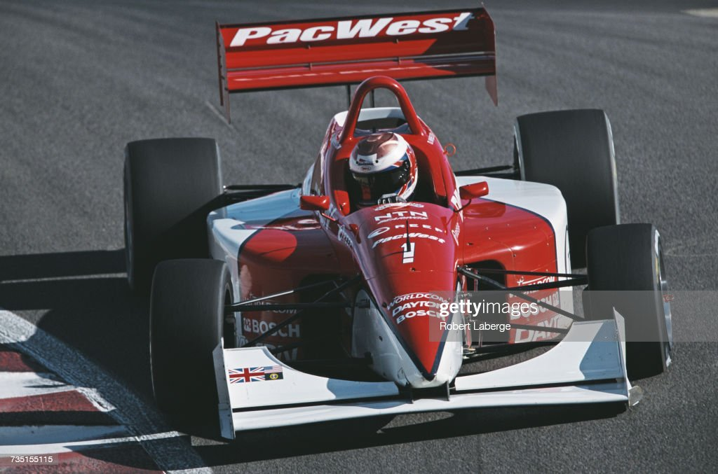 Dan Wheldon of Great Britain drives the #1 PacWest Lights Lola T97/20 Buick during the Championship Auto Racing Teams (CART) Dayton Indy Lights Championship Series Indy Lights Grand Prix of Monterey on 13 October 2001 at the Laguna Seca Raceway, Monterey, California, United States.