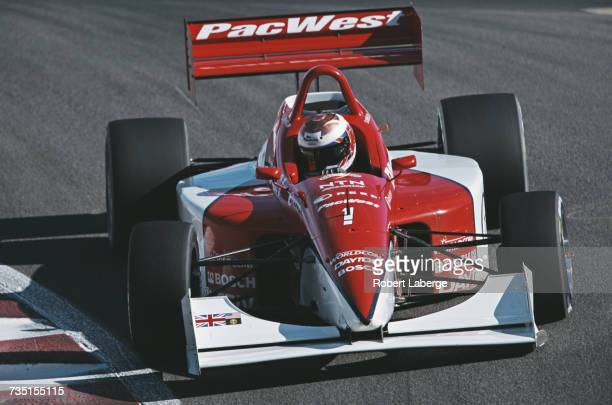 Dan Wheldon of Great Britain drives the PacWest Lights Lola T97/20 Buick during the Championship Auto Racing Teams Dayton Indy Lights Championship...