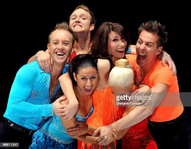 Dan Whiston Hayley Tamaddon Chris Fountain Gaynor Faye Matt Evers and Brianne Delcourt attend a photocall for Torvill Dean's 'Dancing On Ice' tour...