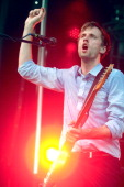 Dan Whitford of Cut Copy performs during the 2011 Pitchfork Music Festival in Union Park on July 17 2011 in Chicago Illinois