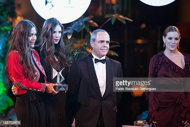 Dana Alikhani Tatiana Santo Domingo and Raquel Sanchez Silva attend Telva Fashion Awards at Palace Hotel on November 6 2012 in Madrid Spain