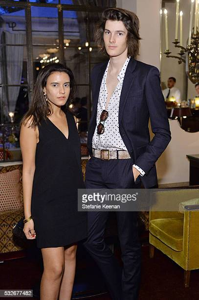 Dana Boulos and Dylan Brosnan attend Catherine Quin Dinner at Chateau Marmont on May 18 2016 in Los Angeles California