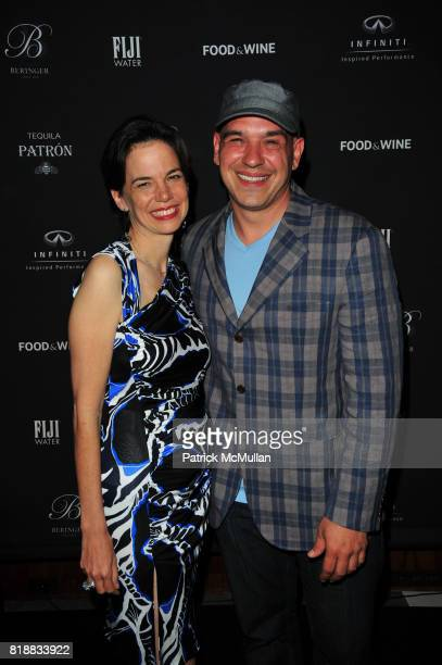 Dana Cowin and Micahel Symon attend FOOD WINE celebrates 2010 Best New Chefs at Four Seasons Restaurant NYC on April 6 2010