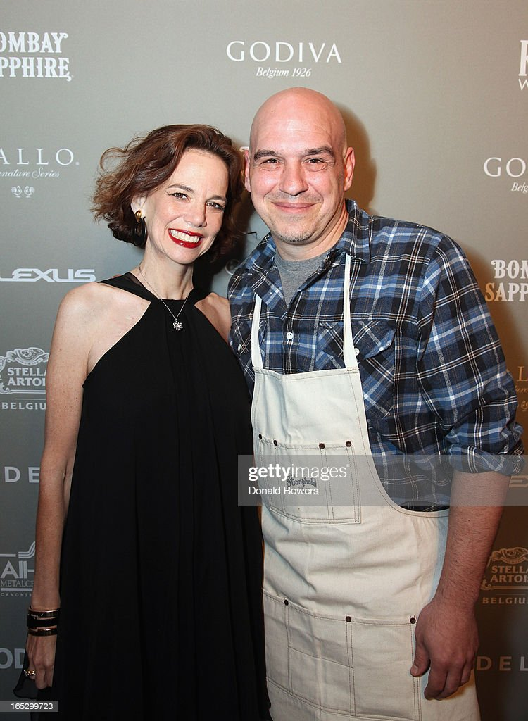 Dana Cowin and Michael Symon attend The FOOD & WINE 2013 Best New Chefs Party at Pranna Restaurant on April 5, 2013 in New York City.