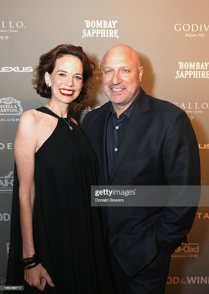 Dana Cowin and Tom Colicchio attend The FOOD & WINE 2013 Best New Chefs Party at Pranna Restaurant on April 5, 2013 in New York City.