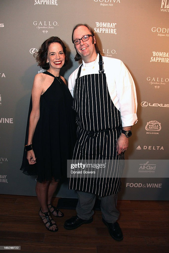 Dana Cowin and Wylie Dufresne attend The FOOD & WINE 2013 Best New Chefs Party at Pranna Restaurant on April 5, 2013 in New York City.