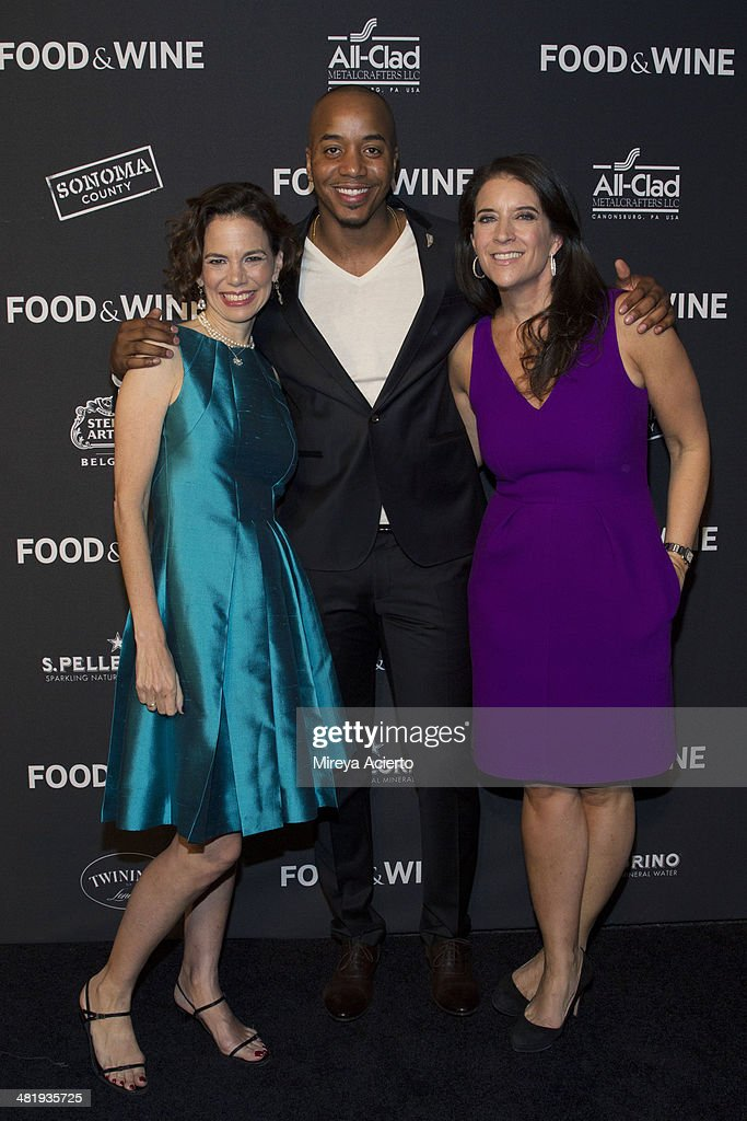 Dana Cowin, Damien Escobar and Chirstina Grdovic attend the 2014 FOOD & WINE Best New Chefs Party at Powerhouse at The American Museum of Natural History on April 1, 2014 in New York City.