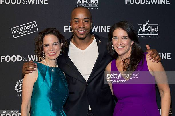 Dana Cowin Damien Escobar and Chirstina Grdovic attend the 2014 FOOD WINE Best New Chefs Party at Powerhouse at The American Museum of Natural...
