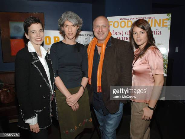 Dana Cowin Editor in Chief of Food Wine Magazine Lauren Zalaznick President of Bravo Channel Tom Colicchio and Gail Simmons