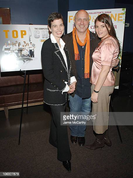 Dana Cowin Editor in Chief of Food Wine Magazine Tom Colicchio and Gail Simmons