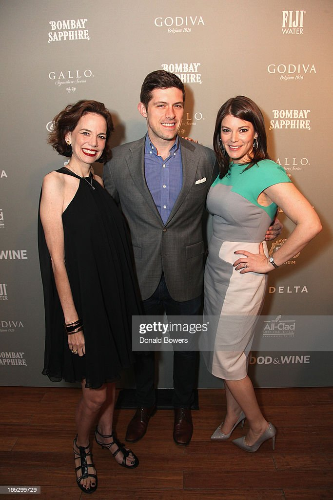 Dana Cowin, Joe Campanelli and Gail Simmons attend The FOOD & WINE 2013 Best New Chefs Party at Pranna Restaurant on April 5, 2013 in New York City.