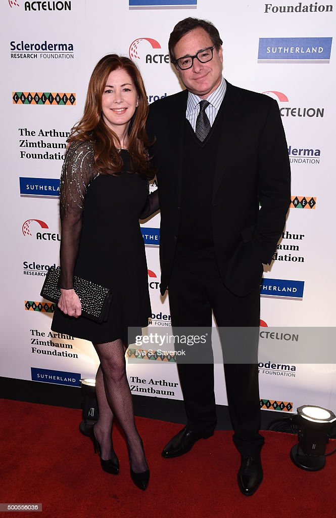 Dana Delaney and <a gi-track='captionPersonalityLinkClicked' href=/galleries/search?phrase=Bob+Saget&family=editorial&specificpeople=209388 ng-click='$event.stopPropagation()'>Bob Saget</a> attend Cool Comedy - Hot Cuisine, A Benefit For The Scleroderma Research Foundation at Carolines On Broadway on December 8, 2015 in New York City.