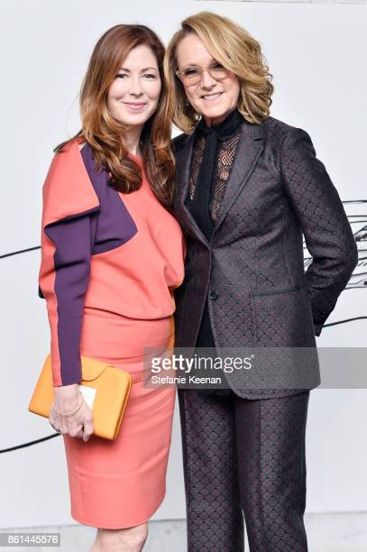 Dana Delany and Ann Philbin at the Hammer Museum 15th Annual Gala in the Garden with Generous Support from Bottega Veneta on October 14 2017 in Los...