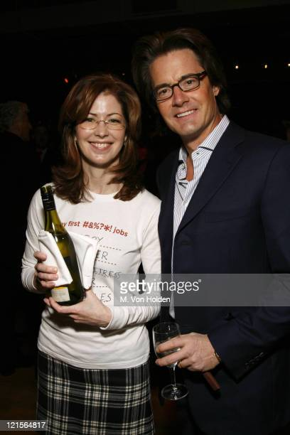 Dana Delany and Kyle Kyle MacLachlan during Sundance Institute Celebrates 25 Years of Independent Film Inside at Metropolitan Pavilion in New York...