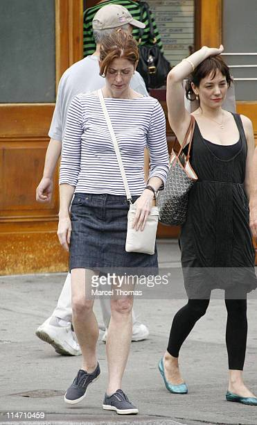 Dana Delany and Natasha Gregson Wagner during Dana Delany Sighting in Manhattan September 24 2006 in New York New York United States