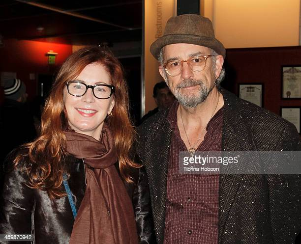 Dana Delany and Richard Schiff attend the Goodman Theatre's opening night performance of 'Luna Gale' at Kirk Douglas Theatre on December 2 2014 in...