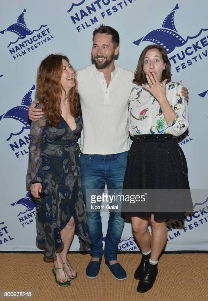 Dana Delany Ryan Eggold and Kristen Schaal attend the screening of 'Literally Right Before Aaron' during the 2017 Nantucket Film Festival Day 4 on...
