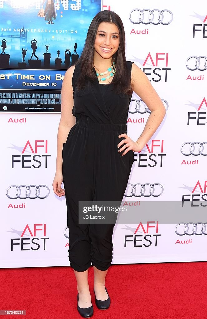 Dana Gaier attends the AFI FEST 2013 Presented By Audi - 'Mary Poppins' 50th Anniversary Edition held at TCL Chinese Theatre on November 9, 2013 in Hollywood, California.