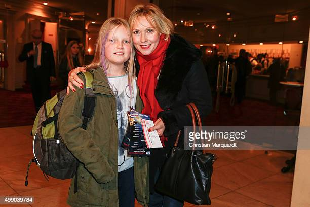Dana Golombek and daughther Luise attend the premiere of 'Eine Weihnachtsgeschichte' at Theater am Kurfuerstendamm on November 28 2015 in Berlin...