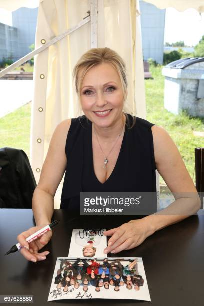 Dana Golombek poses during the celebration of 2500 episodes of 'Rote Rosen' on June 18 2017 in Lueneburg Germany