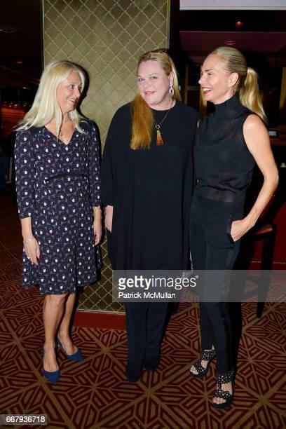 Dana Hammond Stubgen Katharina OttoBernstein and Valesca Guerrand Hermes attend Anne and Jay McInerney Host Cocktails to Celebrate Amanda Hearst and...