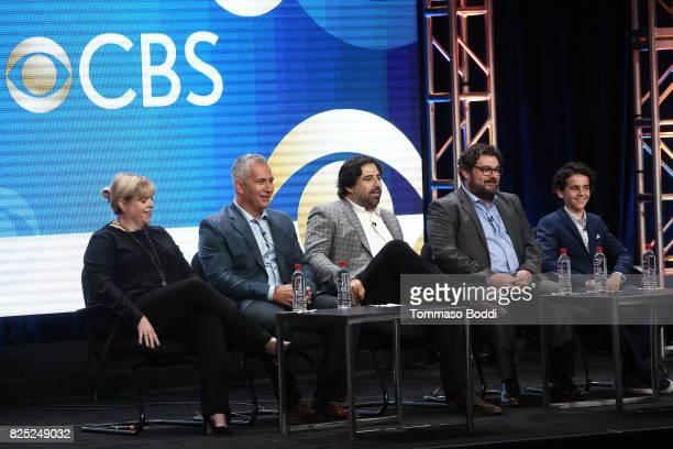 Dana Honor Aaron Kaplan Dan Kopelman Bobby Moynihan and Jack Dylan Grazer attend the 2017 Summer TCA Tour CBS Panels at Various Locations on August 1...