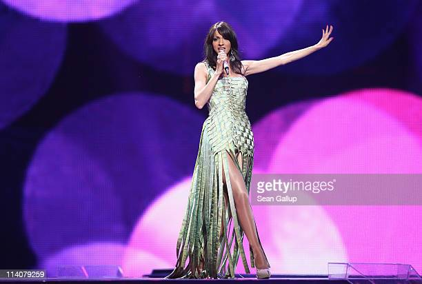 Dana International of Israel peforms at a dress rehearsal the day before the second semifinals of the Eurovision Song Contest 2011 on May 11 2011 in...