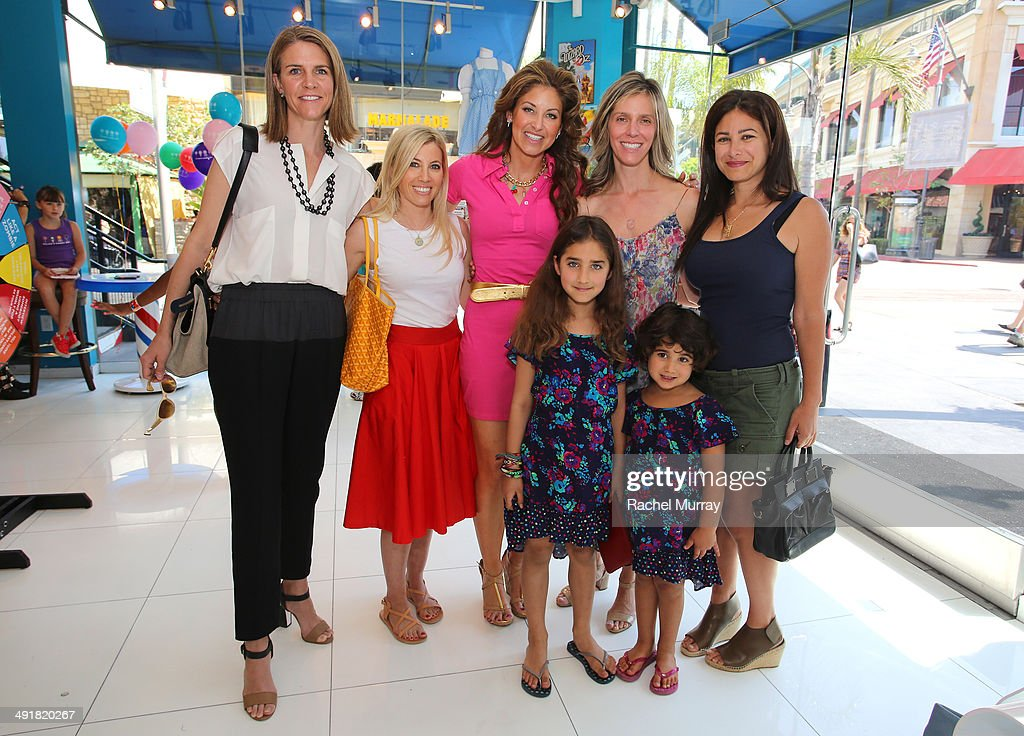 Dana Klein Feuerstein and her daughters, event hosts Jane Buckingham and <a gi-track='captionPersonalityLinkClicked' href=/galleries/search?phrase=Dylan+Lauren&family=editorial&specificpeople=243055 ng-click='$event.stopPropagation()'>Dylan Lauren</a> and guests attend Dylan's Candy Bar Candy Girl Collection LA Launch Event at Dylan's Candy Bar on May 17, 2014 in Los Angeles, California.