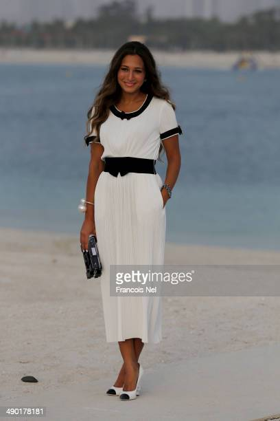 Dana Malhas Ghandour attends the Chanel Cruise Collection 2014/2015 Photocall at The Island on May 13 2014 in Dubai United Arab Emirates