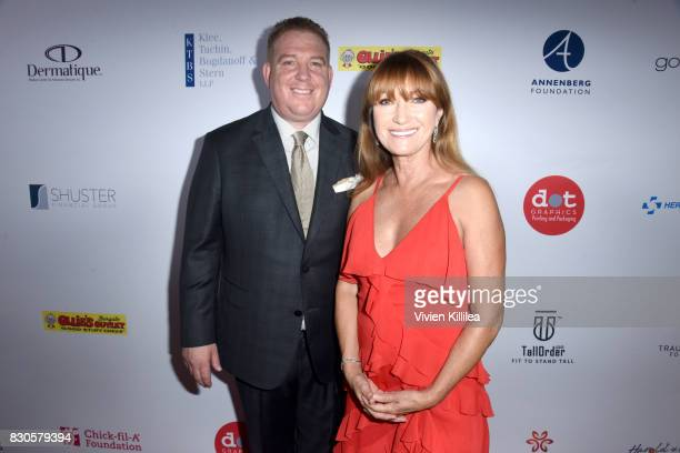 Dana Pump and Jane Seymour attend the 17th Annual Harold Carole Pump Foundation Gala at The Beverly Hilton Hotel on August 11 2017 in Beverly Hills...