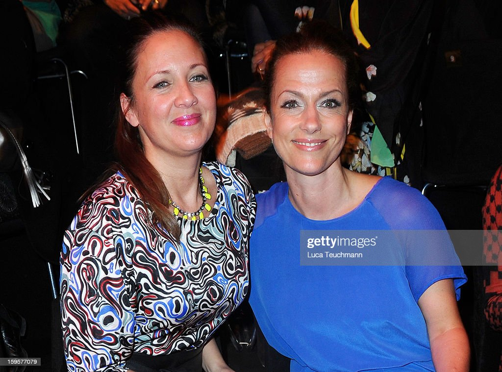 <a gi-track='captionPersonalityLinkClicked' href=/galleries/search?phrase=Dana+Schweiger&family=editorial&specificpeople=235917 ng-click='$event.stopPropagation()'>Dana Schweiger</a> and Claudia Michelsen attends Lala Berlin Autumn/Winter 2013/14 fashion show during Mercedes-Benz Fashion Week Berlin at Brandenburg Gate on January 16, 2013 in Berlin, Germany.