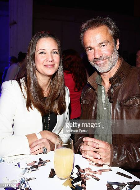 Dana Schweiger and Hannes Jaenicke attend a party to celebrate the 5th anniversary of TV channel TNT Serie at Kesselhalle on May 8 2014 in Munich...