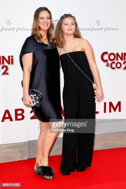 Dana Schweiger and her daughter Emma Schweiger attend the 'Conni Co 2 Das Geheimnis des TRex' premiere on April 9 2017 in Berlin Germany