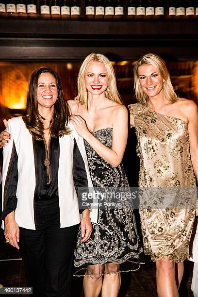 Dana Schweiger Franziska Knuppe and Maria HoeflRiesch attend the 40th birthday party of Franziska Knuppe on December 07 2014 in Berlin Germany