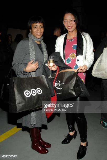 Dana Sinclair and Syl Tang attend McQ Alexander McQueen for Target Debuts TARGET McQ MARKET in NYC at St John's Center on February 13 2009 in New...