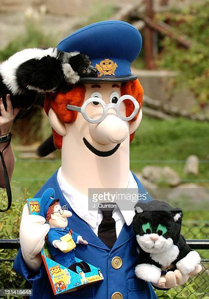 Dana the Lima and Postman Pat during TV Cartoon Characters Launch their Latest Toy Lines at London Zoo at London Zoo in London Great Britain