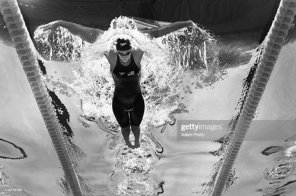 <a gi-track='captionPersonalityLinkClicked' href=/galleries/search?phrase=Dana+Vollmer&family=editorial&specificpeople=240582 ng-click='$event.stopPropagation()'>Dana Vollmer</a> of the United States swims during the second semifinal heat of the Women's 100m Butterfly on Day Nine of the 14th FINA World Championships at the Oriental Sports Center on July 24, 2011 in Shanghai, China.