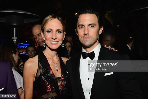 Dana Walden and Milo Ventimiglia attend FOX Broadcasting Company Twentieth Century Fox Television FX And National Geographic 69th Primetime Emmy...