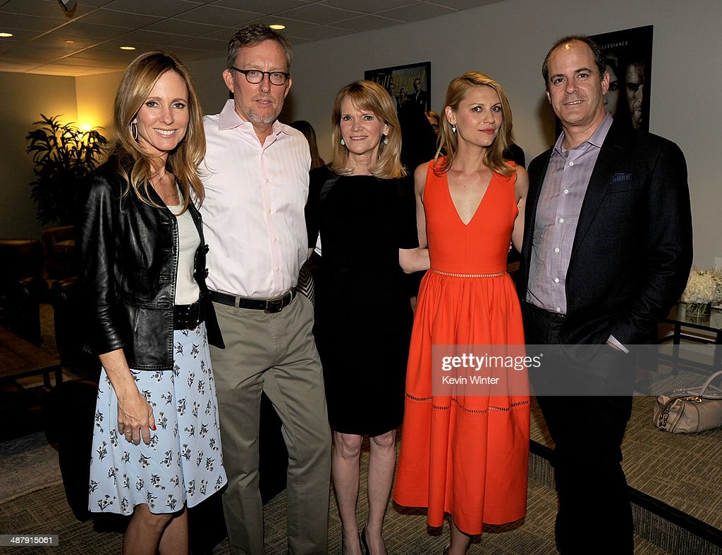 <a gi-track='captionPersonalityLinkClicked' href=/galleries/search?phrase=Dana+Walden&family=editorial&specificpeople=228126 ng-click='$event.stopPropagation()'>Dana Walden</a>, Chairman and CEO, 20th Century Fox Television Studios, executive producer <a gi-track='captionPersonalityLinkClicked' href=/galleries/search?phrase=Alex+Gansa&family=editorial&specificpeople=8016431 ng-click='$event.stopPropagation()'>Alex Gansa</a>, ABC News journalist <a gi-track='captionPersonalityLinkClicked' href=/galleries/search?phrase=Martha+Raddatz&family=editorial&specificpeople=5003951 ng-click='$event.stopPropagation()'>Martha Raddatz</a>, actress <a gi-track='captionPersonalityLinkClicked' href=/galleries/search?phrase=Claire+Danes&family=editorial&specificpeople=202666 ng-click='$event.stopPropagation()'>Claire Danes</a> and David Nevins, President, Showtime Networks pose at a screening of Showtime's 'Homeland' Season 3 Finale 'The Star' at 20th Century Fox Studios on May 2, 2014 in Los Angeles, California.