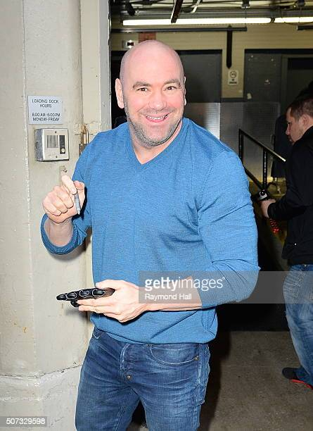 Dana White is seen outside 'Huff Post Live'on January 28 2016 in New York City