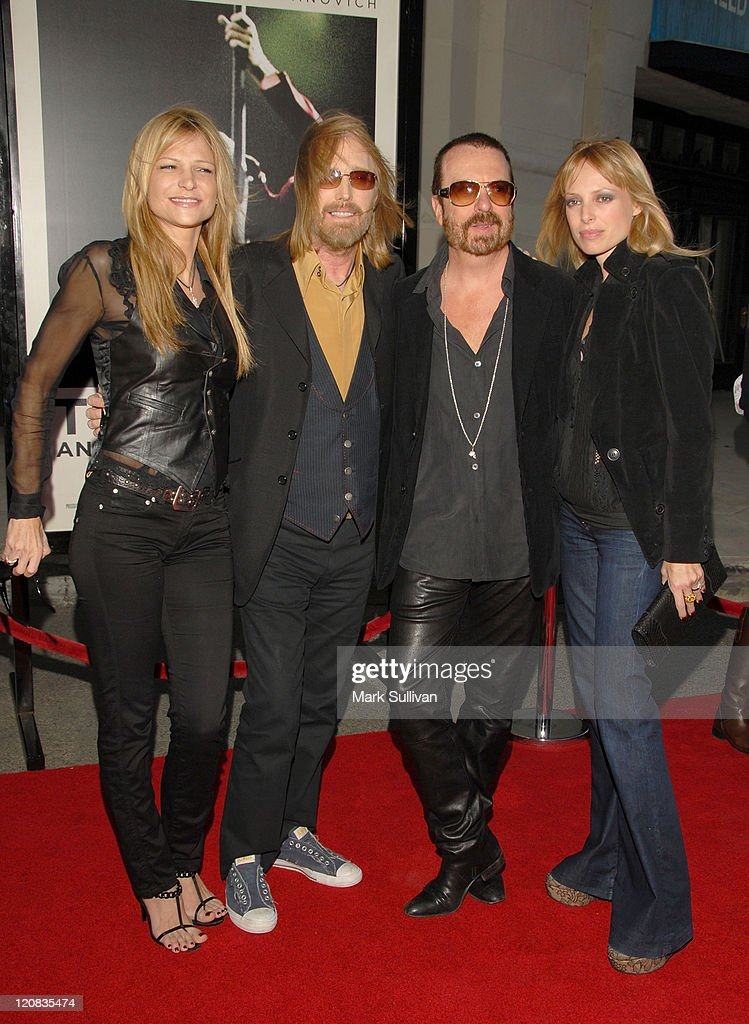 Dana York, musician Tom Petty, musician Dave Stewart and Anoushka Fisz arrive at Runnin' Down A Dream: Tom Petty and The Heartbreakers premiere held in Burbank, California on October 2, 2007.