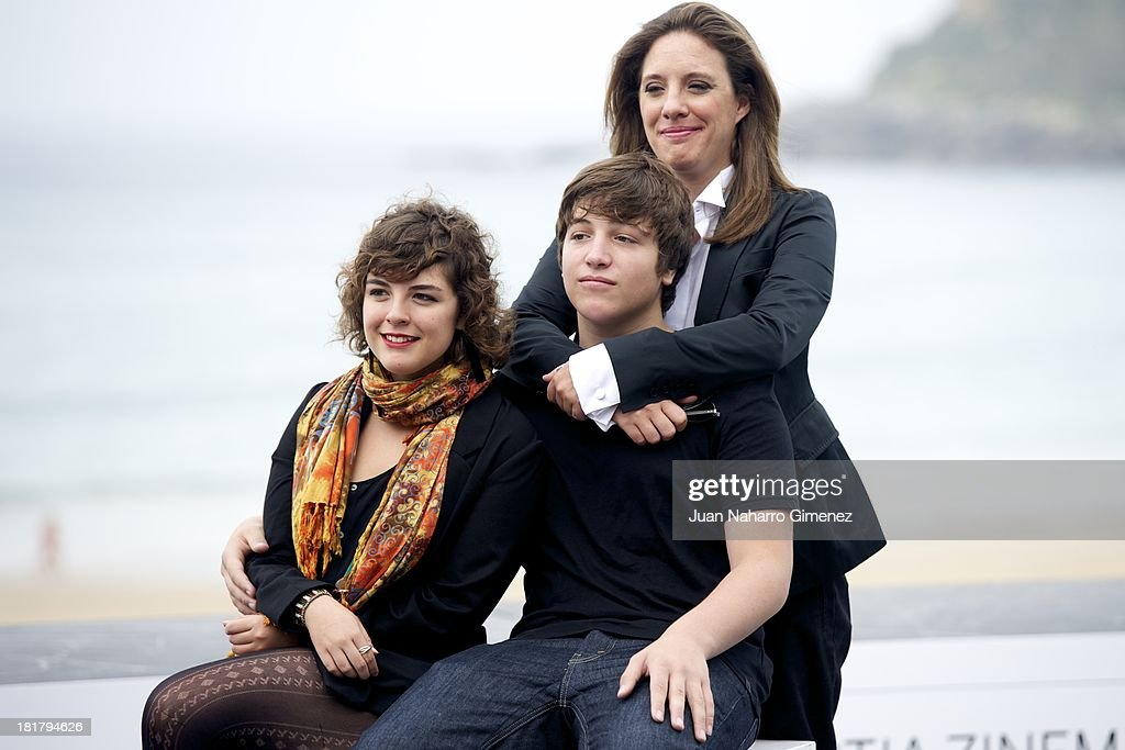 Danae Reynaud, Lucio Gimenez and Maria Renee attend the 'Club Sandwich' photocall at Kursaal during 61st San Sebastian International Film Festival on September 25, 2013 in San Sebastian, Spain.