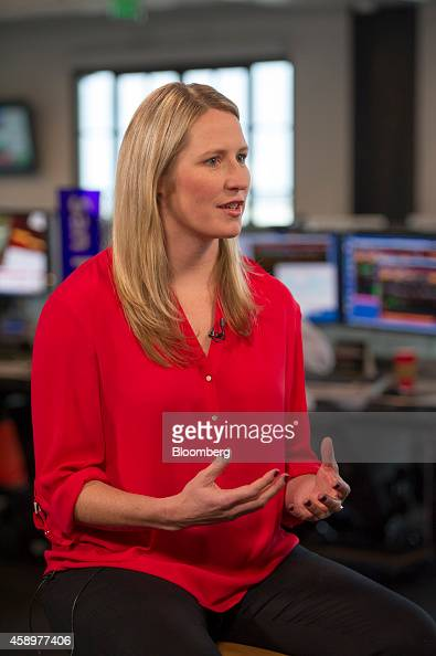 Danae Ringelmann cofounder of Indiegogo Inc speaks during a Bloomberg West Television interview in San Francisco California US on Wednesday Nov 12...